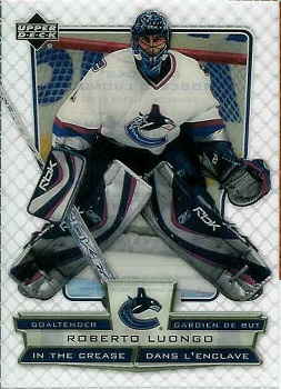 Roberto Luongo 2007-08 McDonalds In The Crease hockey card