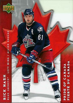 Rick Nash 2007-08 McDonalds Pride of Canada Hockey Card