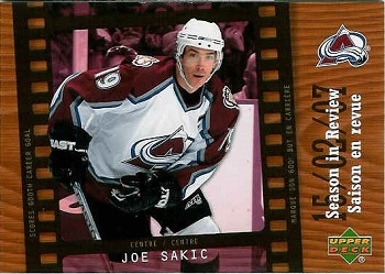 Joe Sakic hockey card