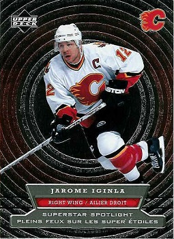 Jarome Iginla 2007-08 McDonalds SuperStar Spotlight hockey card