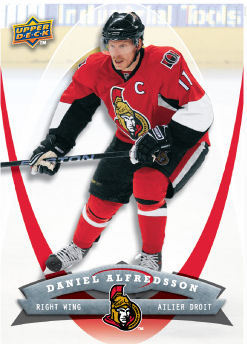 Daniel Alfredsson 2008-09 McDonalds Hockey Card