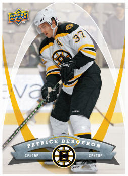 Patrice Bergeron 2008-09 McDonalds Hockey Card