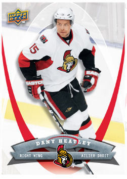 Dany Heatley 2008-09 McDonalds Hockey Card