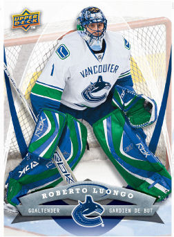 Roberto Luongo 2008-09 McDonalds Hockey Card