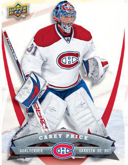 Carey Price 2008-09 McDonalds Hockey Card
