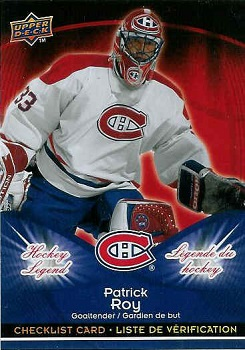 2009-10 McDonalds Patrick Roy hockey card