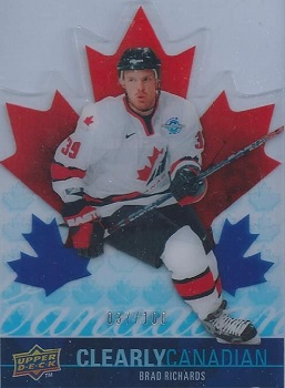 Brad Richards Clearly Canadian hockey card