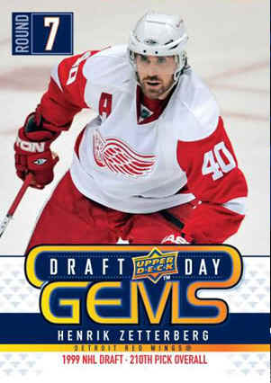 Henrik Zetterberg Draft Day Insert hockey card