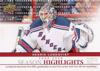 Henrik Lundqvist Season Highlights