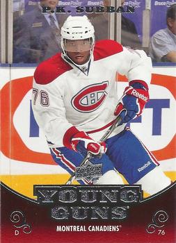 PK Subban Upper Deck Young Guns