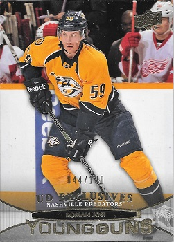 Roman Josi 2011-12 Upper Deck Young Guns Exclusives