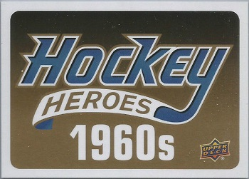 Upper Deck Heroes 1960's Header Card
