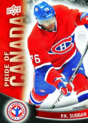 PK Subban Hockey Card