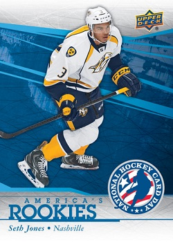 Seth Jones Hockey Card Day in the USA