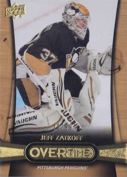 Jake Zatkoff Upper Deck Overtime Gold RC