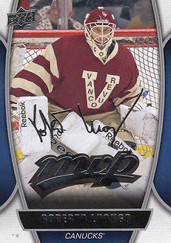 Roberto Luongo MVP hockey card