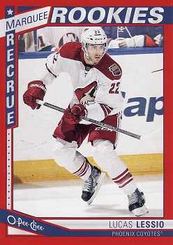 Lucas Lessio Red O-Pee-Chee Rookie Card