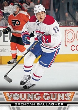 Brendan Gallagher Upper Deck Young Guns Rookie Card