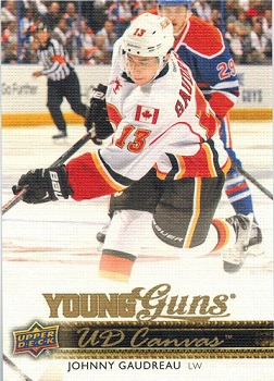 Johnny Hockey Gaudreau Canvas Young Guns