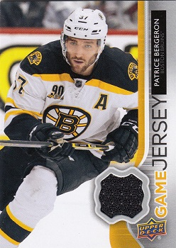 Patrice Bergeron Upper Deck Game Jersey