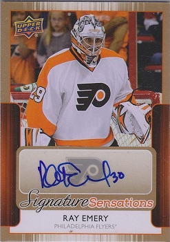 2014-15 Ray Emery Upper Deck Signature Sensations