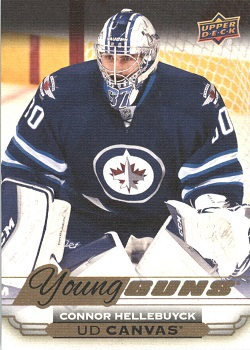 Connor Hellebuyck Upper Deck Canvas Young Guns