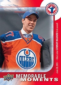Connor McDavid UD Hockey Card Day #15