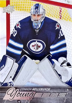 Connor Hellebuyck Upper Deck Young Guns Hockey Card