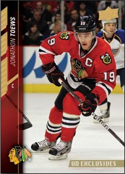 Jonathan Toews 2015-16 Upper Deck Exclusives Hockey Card