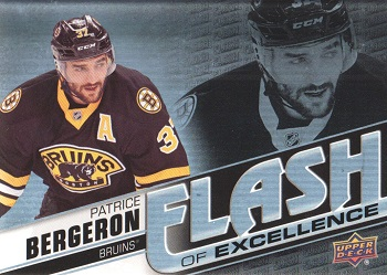 Patrice Bergeron 2015-16 Upper Deck Overtime Flash of Excellence