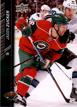 Jason Zucker 2015-16 Upper Deck Hockey Cards
