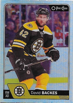 David Backes Boston Bruins OPC Update Rainbow