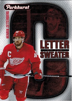 2016-17 Parkhurst Letter on the Sweater Henrik Zetterberg