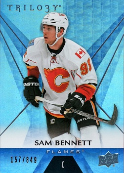 Sam Bennett Upper Deck Trilogy Rainbow Blue