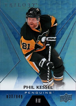 Phil Kessel Upper Deck Trilogy Rainbow Blue