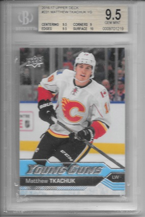 Matthew Tkachuk 2016-17 Upper Deck Young Guns BGS 9.5