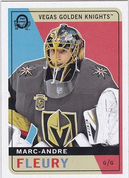 Marc-Andre Fleury 2017-18 O-Pee-Chee Update Black Back