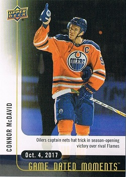 Connor McDavid Upper Deck Game Dated Moments