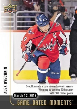 Alex Ovechkin Game Dated Moments