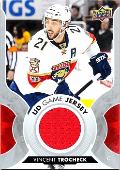 Vincent Trocheck 2017-18 Upper Deck Game Jersey