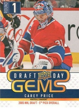 Upper Deck Draft Day Gems Carey Price