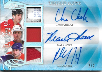 2019-20 Leaf Triple Auto Chelios Coffey Howe 2/2
