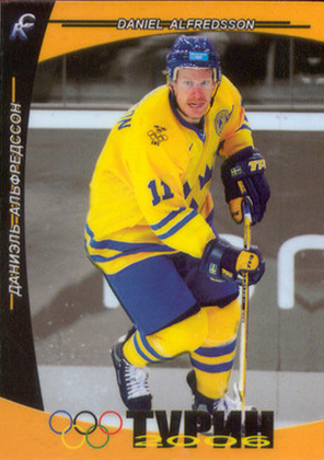 Daniel Alfredsson olympic hockey card