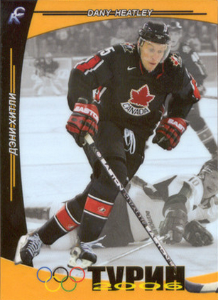 Dany Heatley Olympic hockey card
