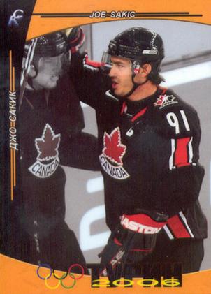 Joe Sakic Olympic hockey card