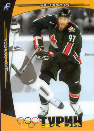 Joe Thornton Olympic hockey card
