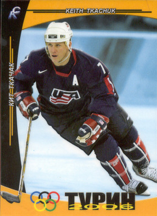Keith Tkachuk Olympic hockey card