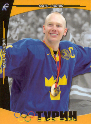 Mats Sundin Olympic hockey card
