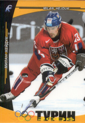 Milan Hejduk Olympics hockey card