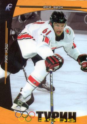 Rick Nash Olympic Hockey Card
